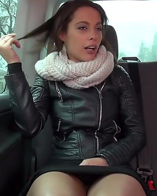 Rain help convince innocent french sexbomb come to van and fuck
