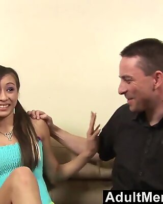 He convinces his babysitter to fuck him