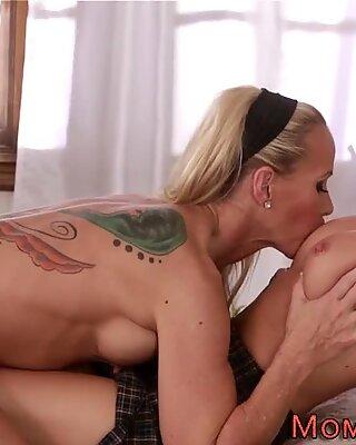 Busty milf lesbian licks
