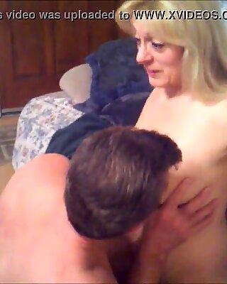Slut granny takes 2 loads on her beautiful tits