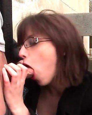 Amateur schoolgirl with big boobs fucked hard and jizzed on body