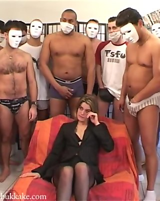 French Bukkake: Lucie Laurent