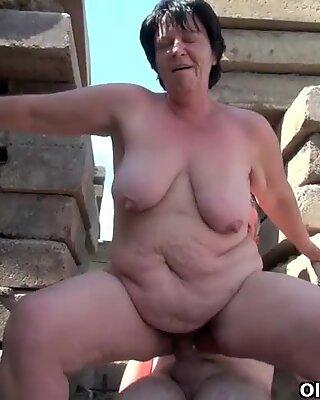 Bbw mummo tekee isoisän pienestä putkesta suurimman