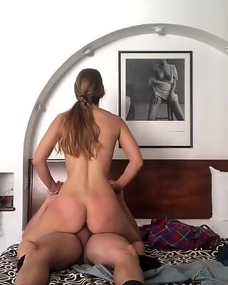 Sexy young blonde amazing ride