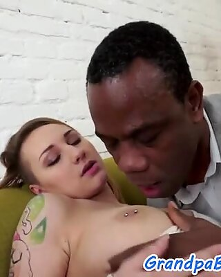 Tattooed euro babe gets pounded by bbc