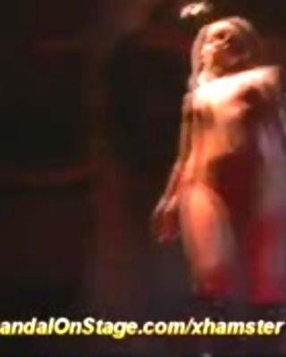 hot mastrubation on public show stage