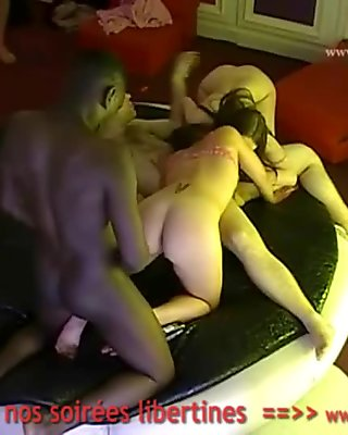 Hidden cam in a French swingers club! Part49