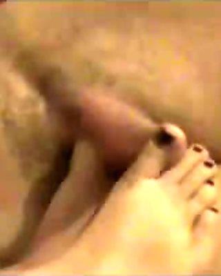 footjob of my wife 1