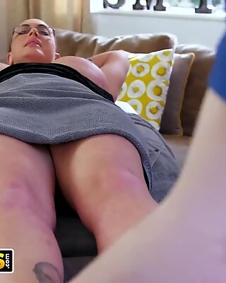 BANGBROS - Big Tit Stepmom Emma Butt Gets Massage From Sam Bourne