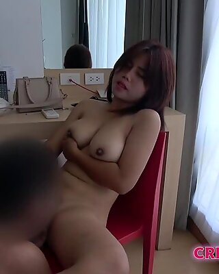 Thai chick with big natural titties gets fucked by Japanese guy