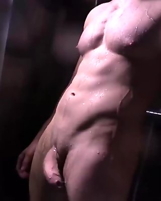 Straight Felix Brazeau Shower Scene Stroking Huge Hard Cock Men of Judas