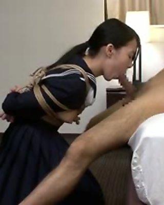 Japanese girl 05 bondage fellatio