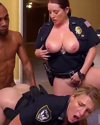 Blonde interracial stockings first time Black Male squatting in home gets our milf