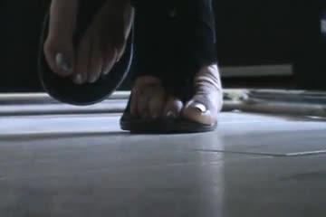 Friend's feet under the desk 4