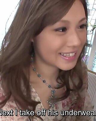 Uncensored Japanese Ayumu Sena blowjob subtitles