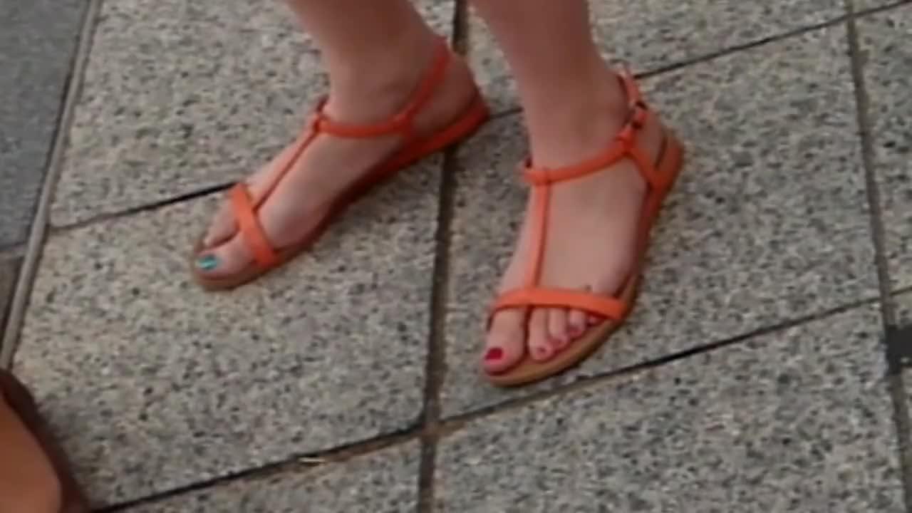 Candid feet street