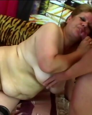 Fat granny with saggy tits got smashed by a bodybuilder