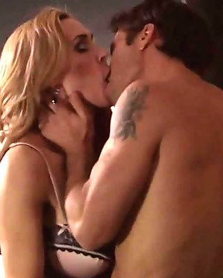 Tanya Tate and Kylie Page gets nasty as they french kiss